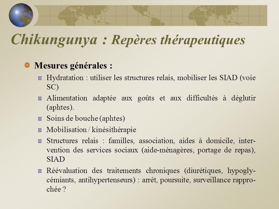 Chikungunya : Repères thérapeutiques
