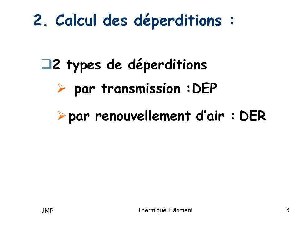2. Calcul des déperditions :