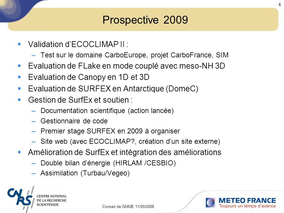 Prospective 2009 Validation d'ECOCLIMAP II :