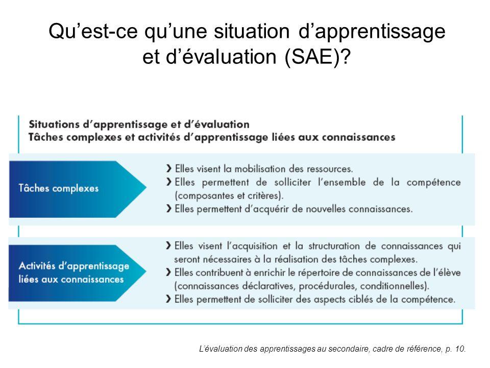 Qu'est-ce qu'une situation d'apprentissage et d'évaluation (SAE)