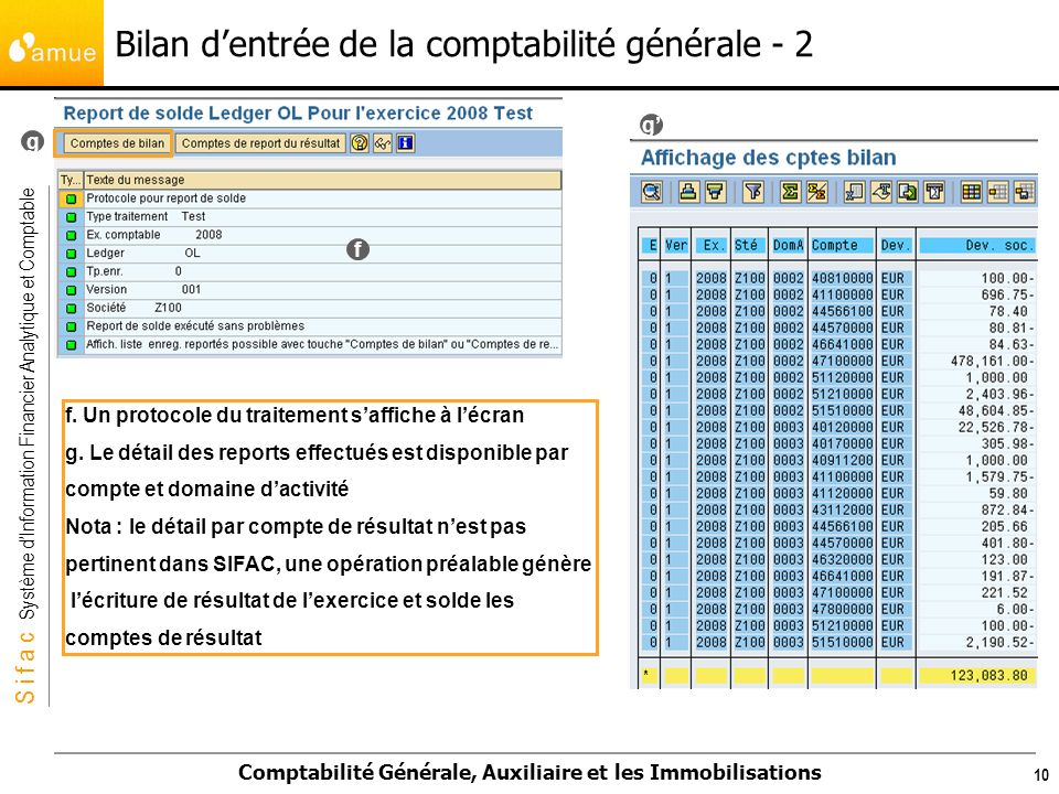 Bilan d'entrée de la comptabilité générale - 2