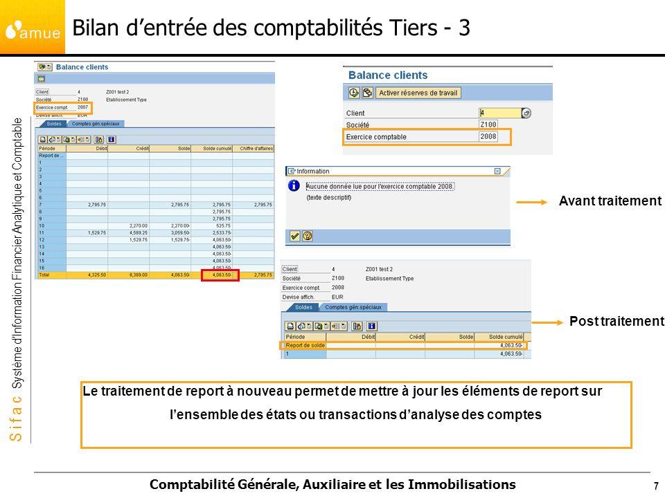 Bilan d'entrée des comptabilités Tiers - 3