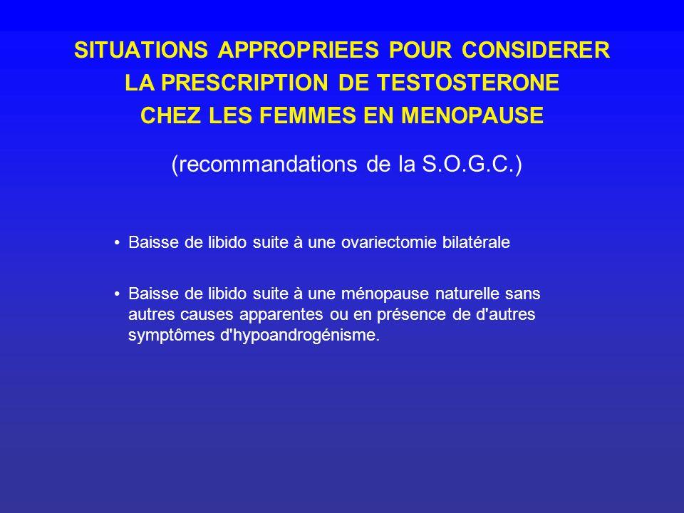 (recommandations de la S.O.G.C.)