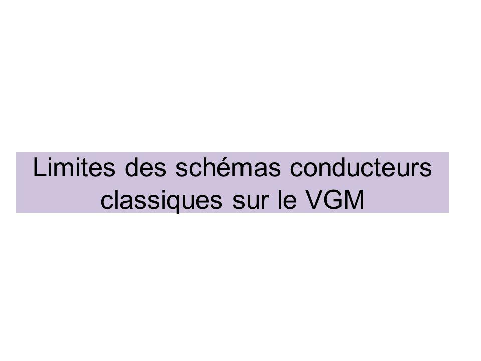 Limites des schémas conducteurs classiques sur le VGM