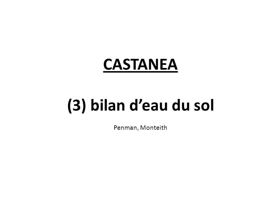 CASTANEA (3) bilan d'eau du sol