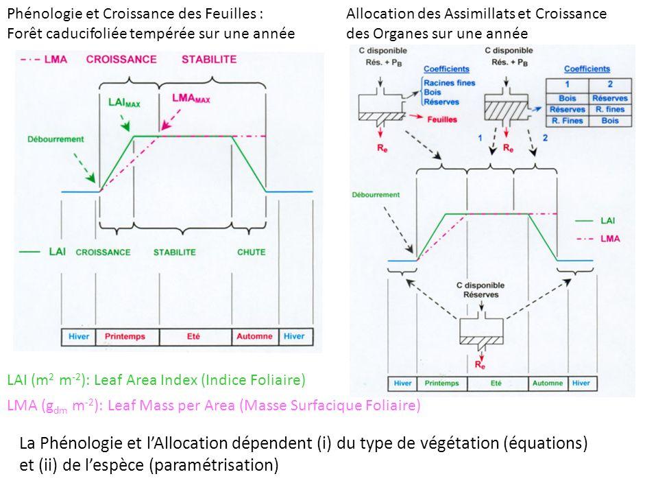 et (ii) de l'espèce (paramétrisation)