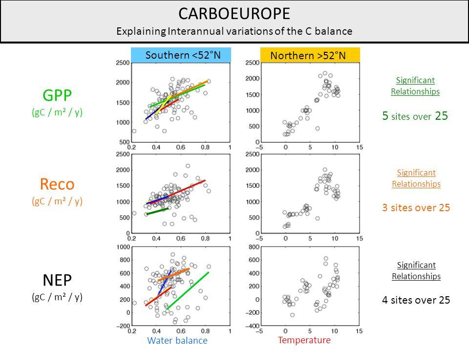 Explaining Interannual variations of the C balance