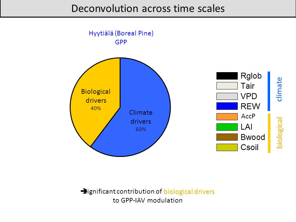 Deconvolution across time scales
