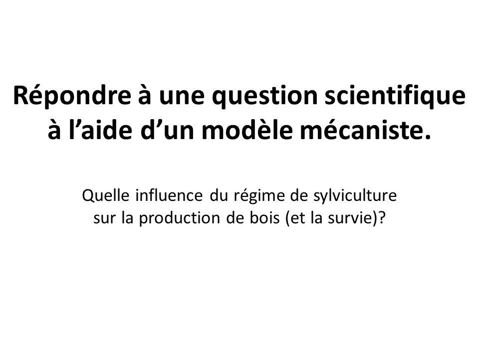 Répondre à une question scientifique à l'aide d'un modèle mécaniste.