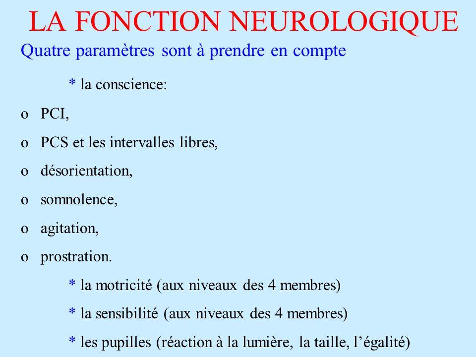 LA FONCTION NEUROLOGIQUE