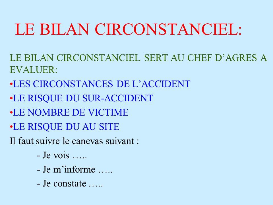 LE BILAN CIRCONSTANCIEL: