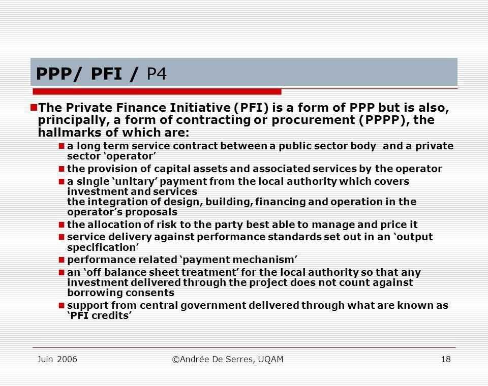 PPP/ PFI / P4