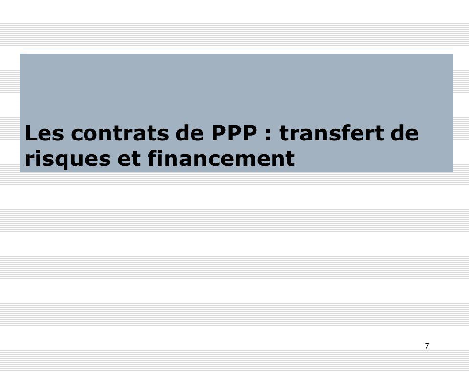 Les contrats de PPP : transfert de risques et financement