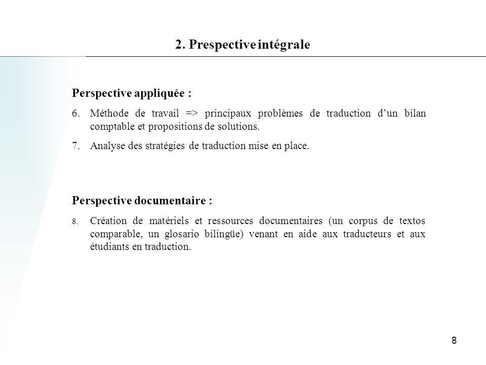 2. Prespective intégrale