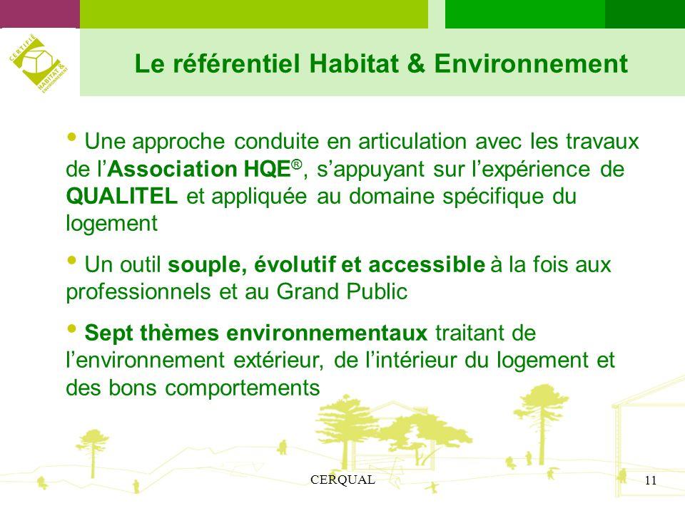 Le référentiel Habitat & Environnement