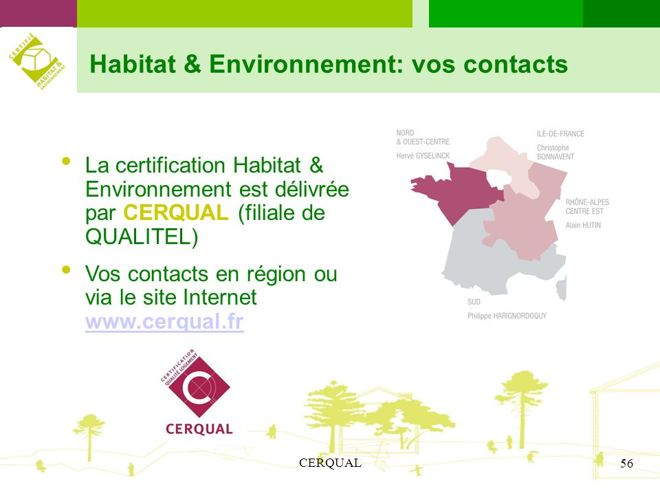 Habitat & Environnement: vos contacts
