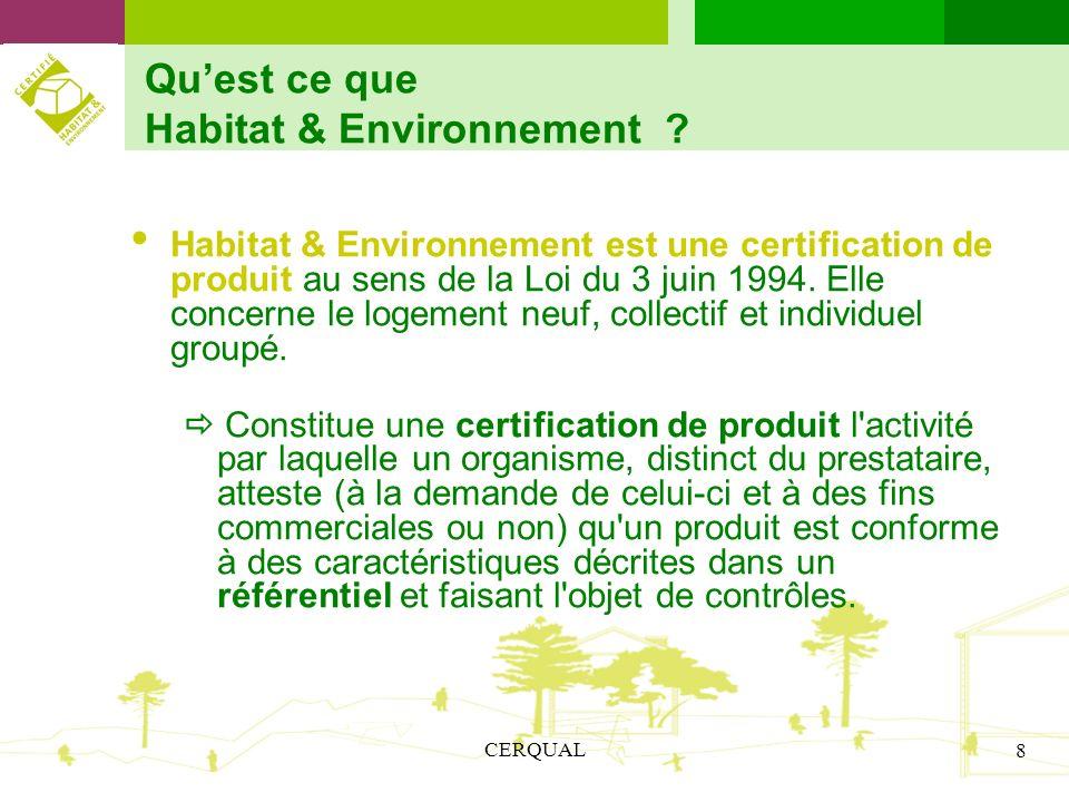 Qu'est ce que Habitat & Environnement