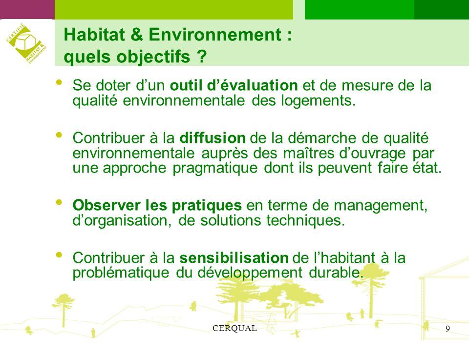 Habitat & Environnement : quels objectifs