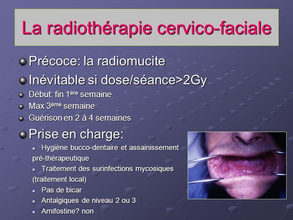 La radiothérapie cervico-faciale