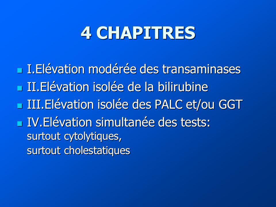 4 CHAPITRES I.Elévation modérée des transaminases