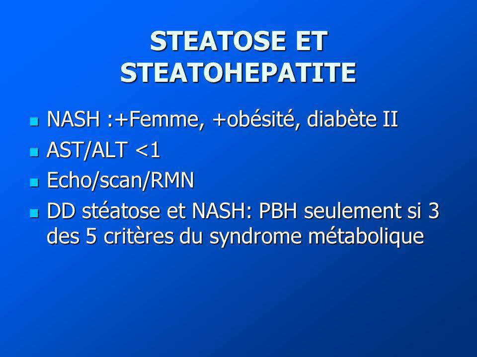 STEATOSE ET STEATOHEPATITE