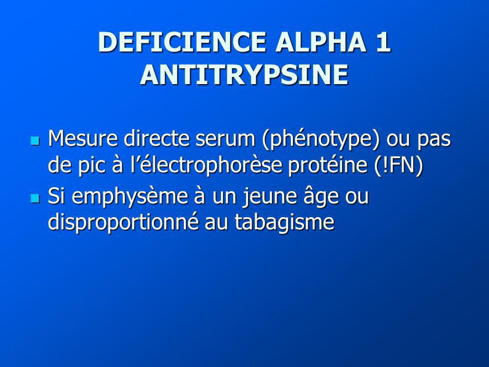 DEFICIENCE ALPHA 1 ANTITRYPSINE