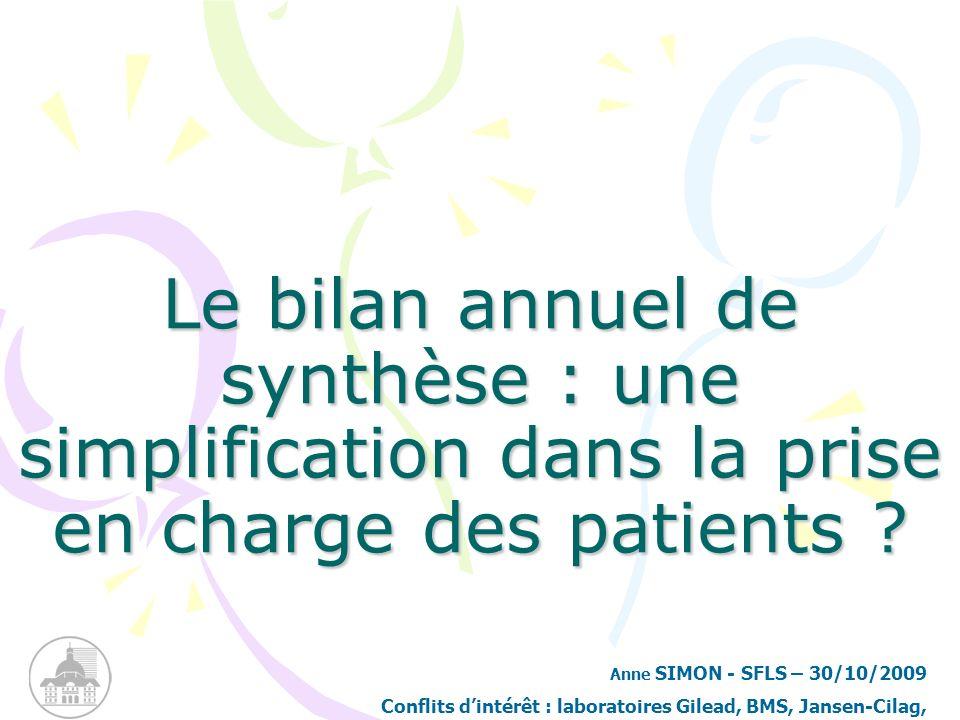 Le bilan annuel de synthèse : une simplification dans la prise en charge des patients