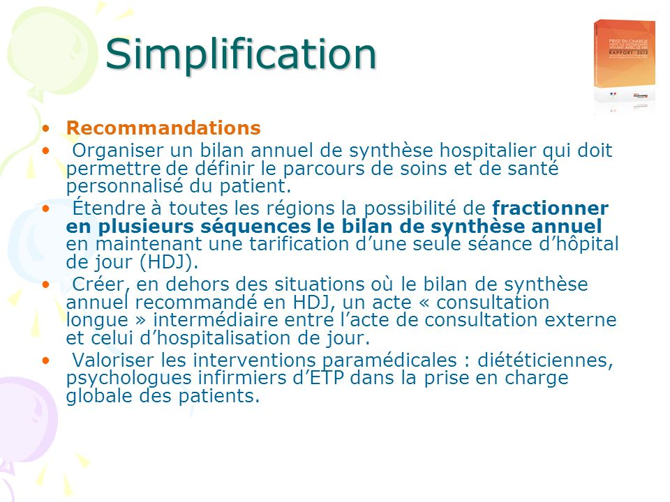Simplification Recommandations