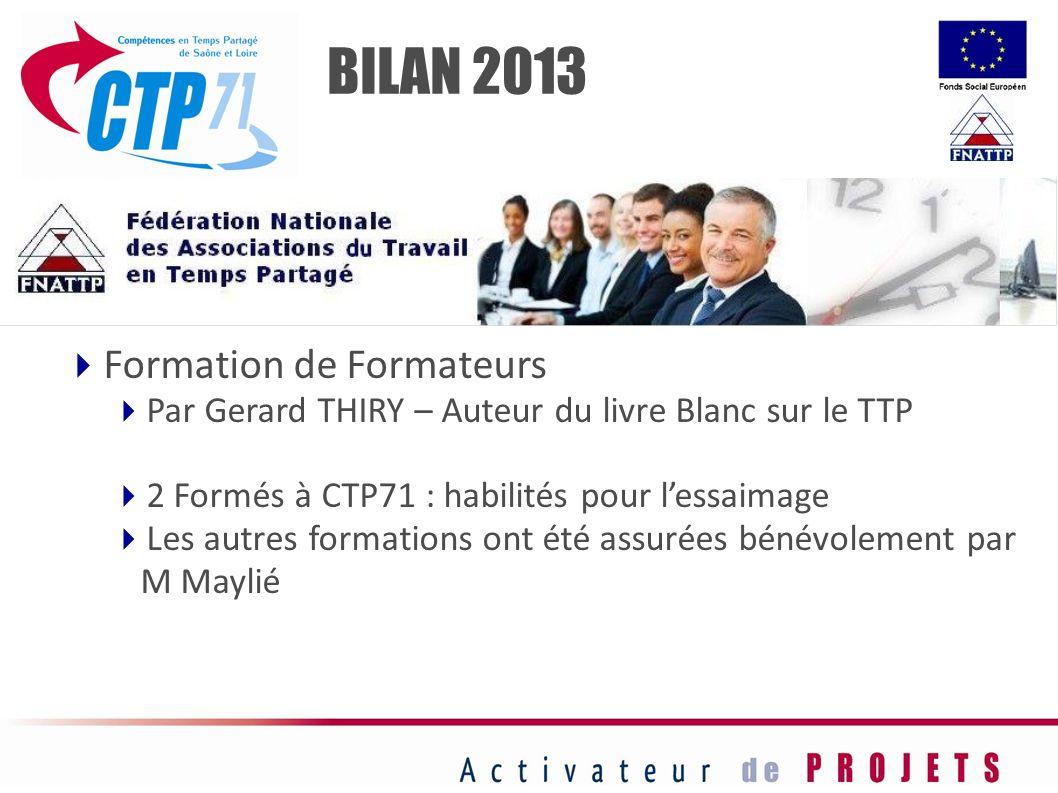 BILAN 2013 Formation de Formateurs
