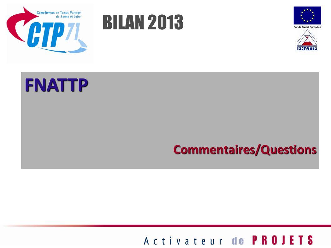 BILAN 2013 FNATTP Commentaires/Questions 21