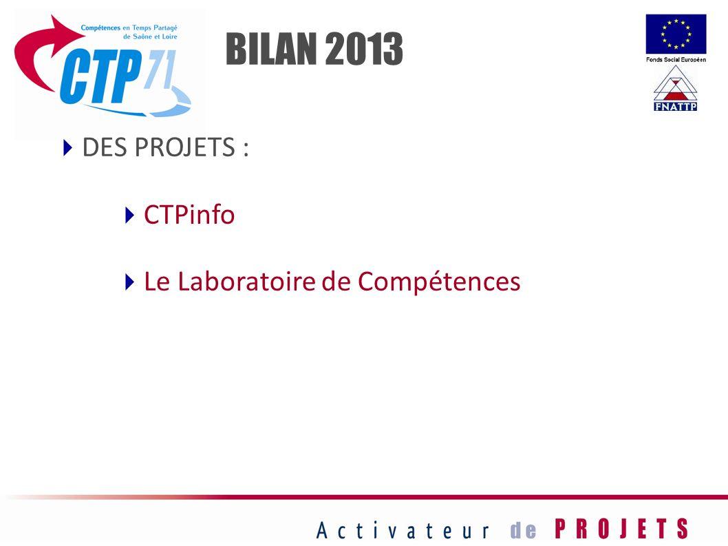 BILAN 2013 DES PROJETS : CTPinfo Le Laboratoire de Compétences 22