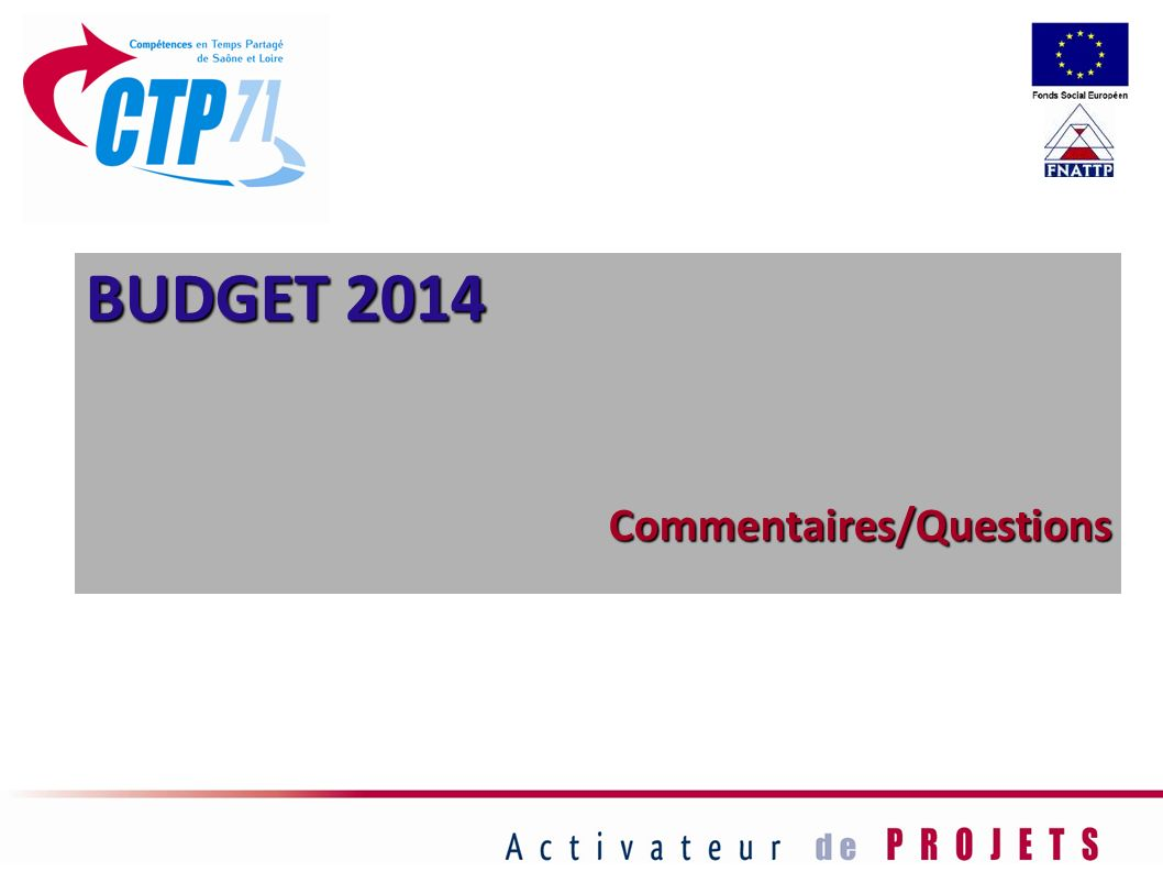 BUDGET 2014 Commentaires/Questions 66