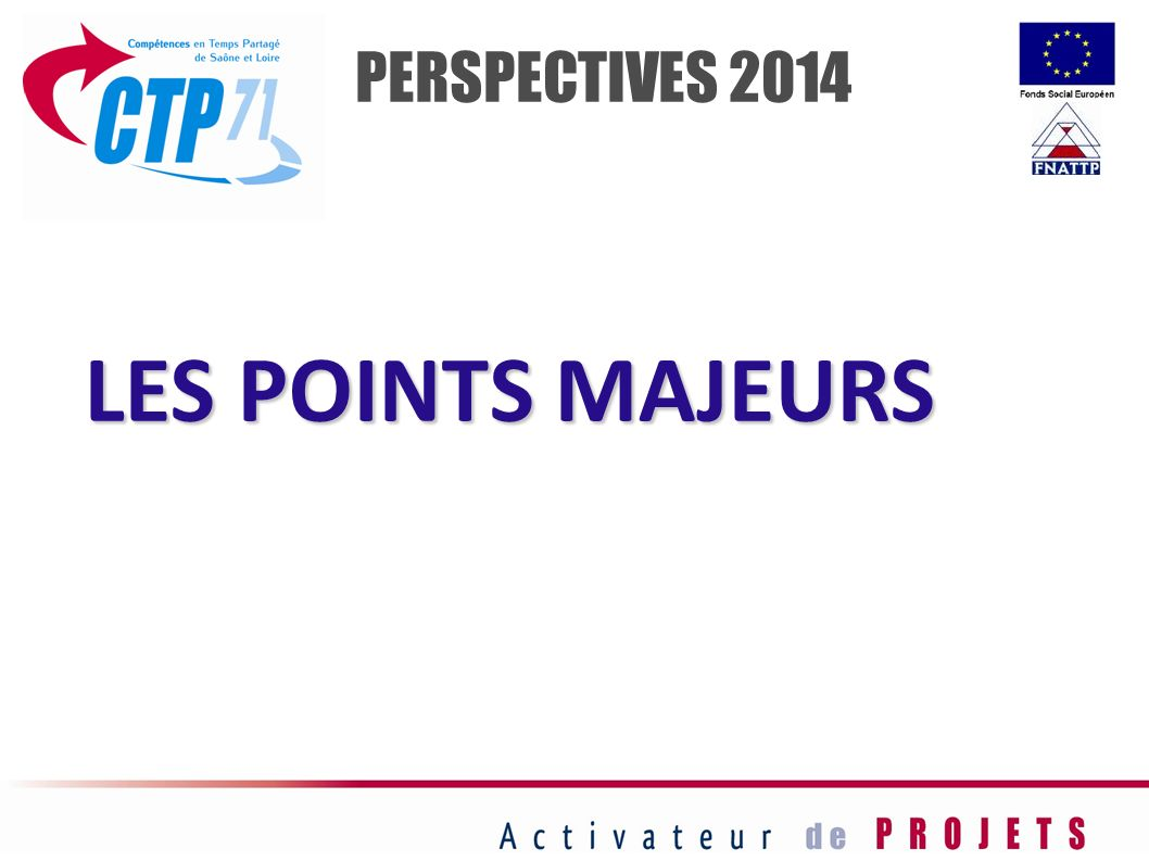 PERSPECTIVES 2014 LES POINTS MAJEURS 68