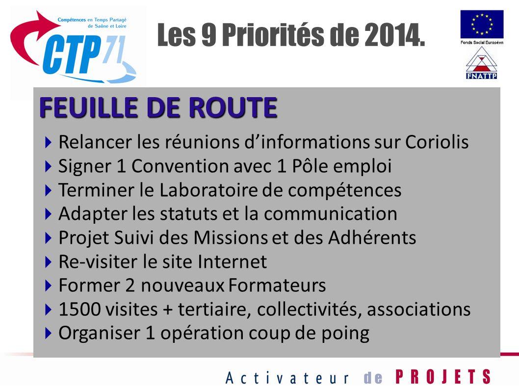 FEUILLE DE ROUTE Les 9 Priorités de 2014.