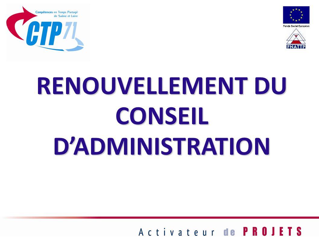 RENOUVELLEMENT DU CONSEIL D'ADMINISTRATION