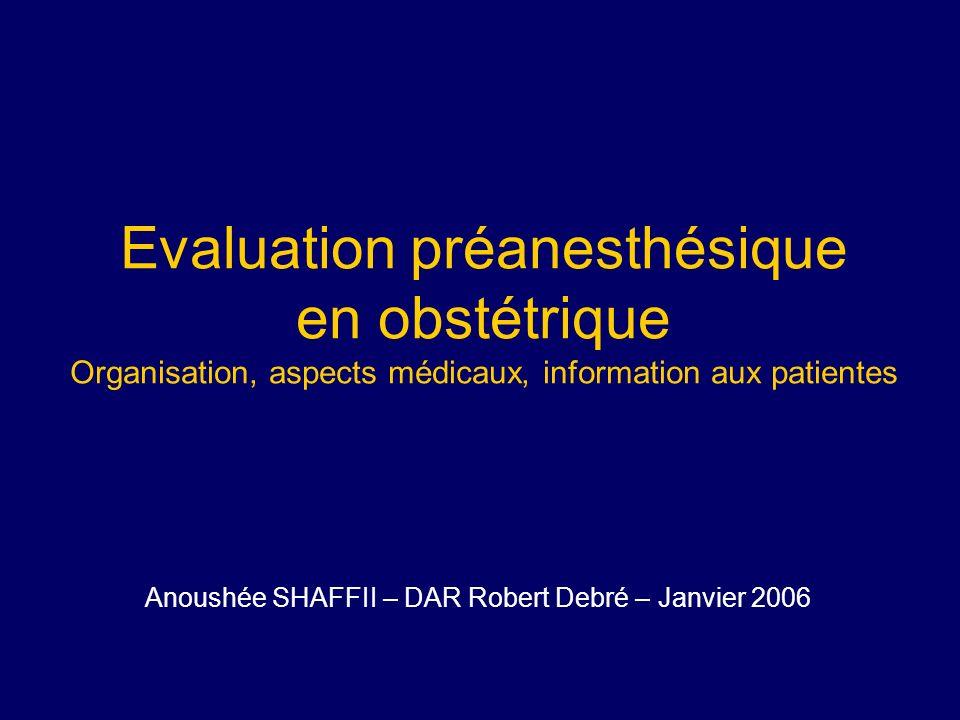 Anoushée SHAFFII – DAR Robert Debré – Janvier 2006