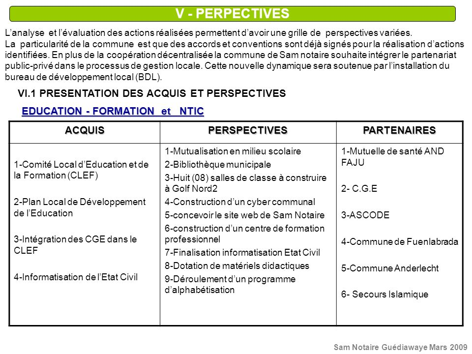 EDUCATION - FORMATION et NTIC