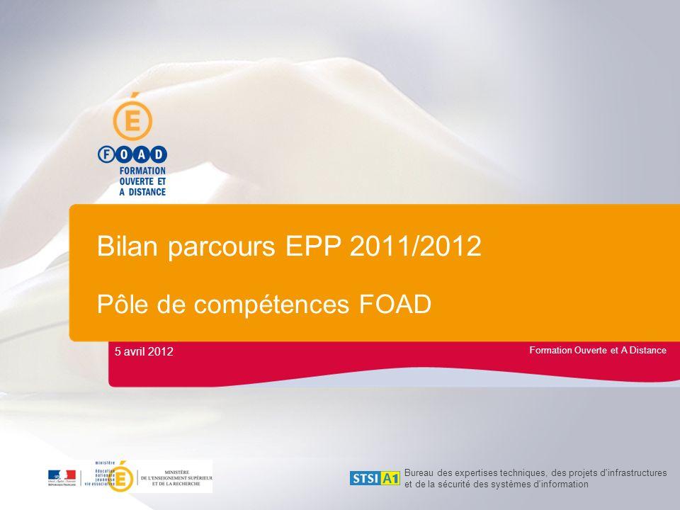 Bilan parcours EPP 2011/2012 Pôle de compétences FOAD