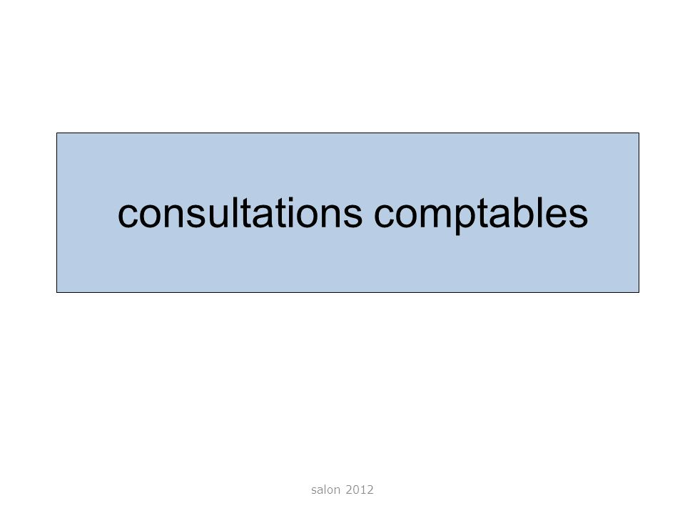 consultations comptables