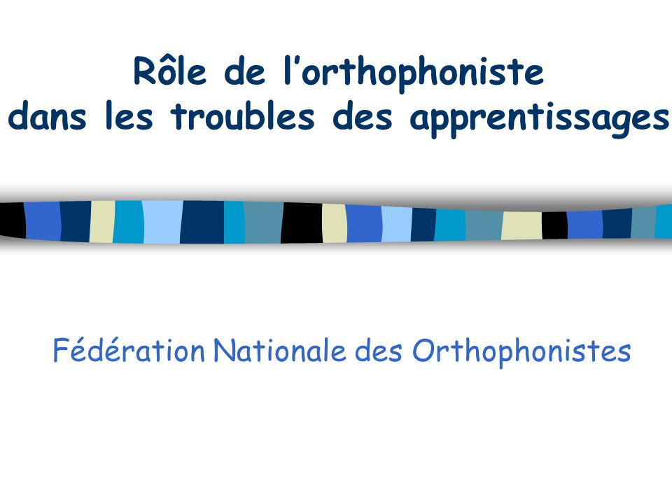 Fédération Nationale des Orthophonistes