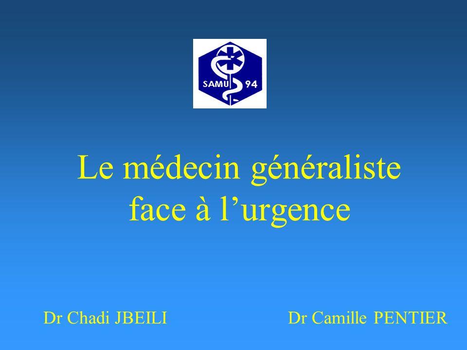 Le médecin généraliste face à l'urgence