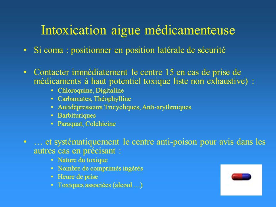Intoxication aigue médicamenteuse
