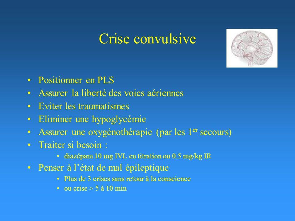 Crise convulsive Positionner en PLS