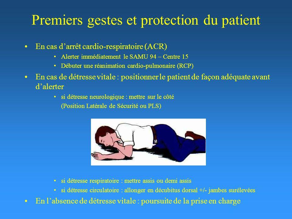 Premiers gestes et protection du patient