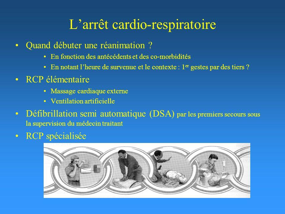 L'arrêt cardio-respiratoire