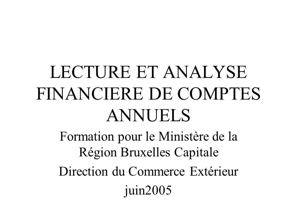 LECTURE ET ANALYSE FINANCIERE DE COMPTES ANNUELS