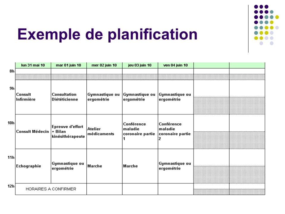 Exemple de planification