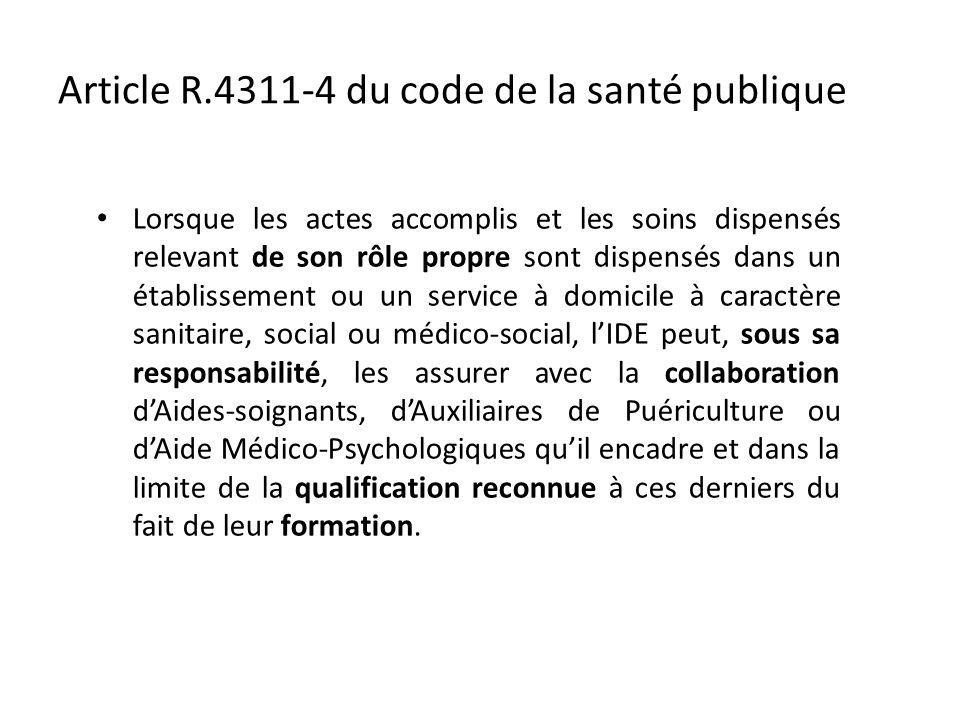 Article R.4311-4 du code de la santé publique