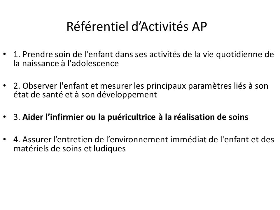 Référentiel d'Activités AP