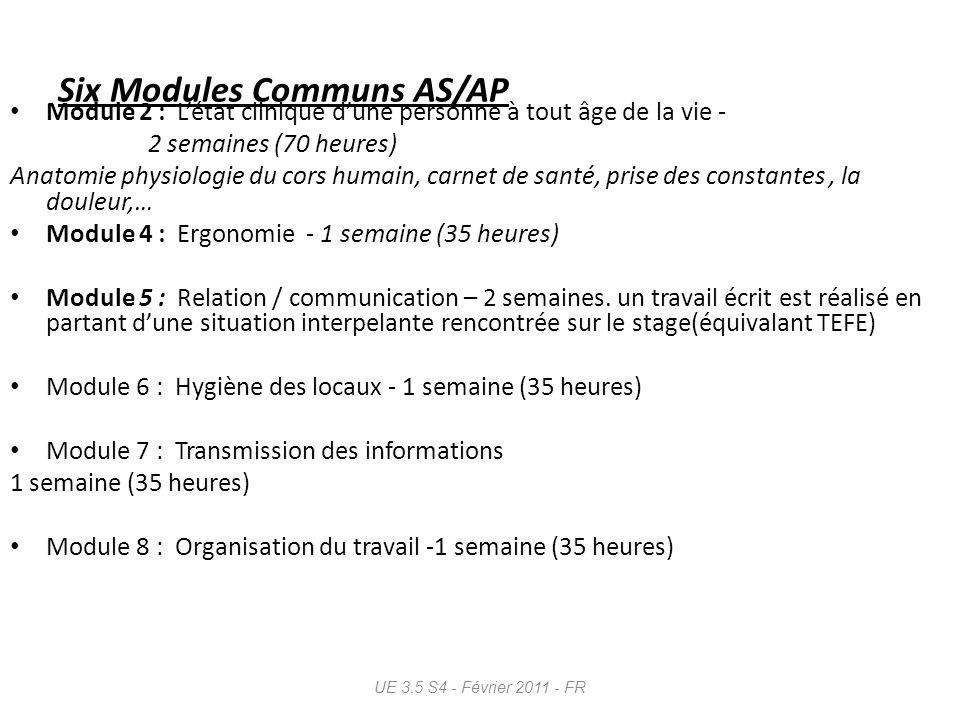 Six Modules Communs AS/AP